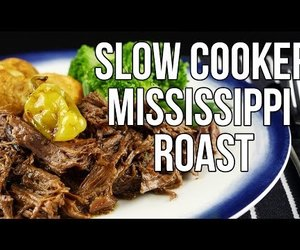 beef, recipe, and slow cooker image