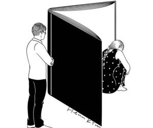 love, book, and sad image