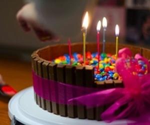 birthdaycake, choco, and smarties image