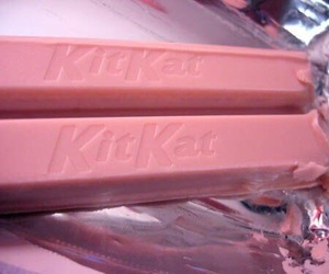 pink, kitkat, and chocolate image