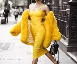 yellow, fashion, and dress image