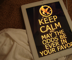 the hunger games, hunger games, and keep calm image