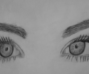 Augen, black & white, and drawing image