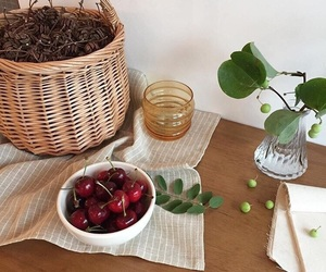 apartment, cherries, and fruit image
