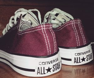 converse, red, and fashion image