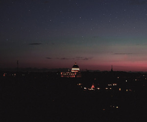 night, sky, and city image