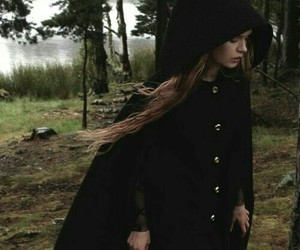 girl, witch, and black image