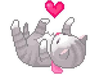 cat, kawaii, and pixel image