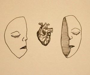 art, heart, and drawing image