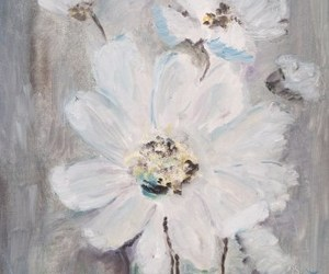 flower, winter, and painting image