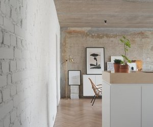 appartment, interior, and kitchen image
