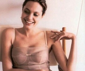 Angelina Jolie, pale, and smile image