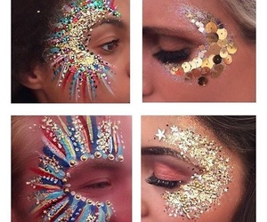 festival, makeup, and glitter image