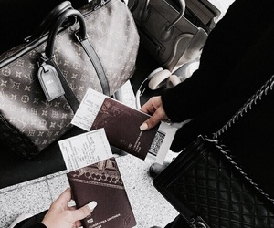 travel, girl, and passport image