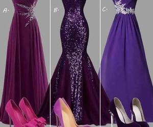 purple and dress image