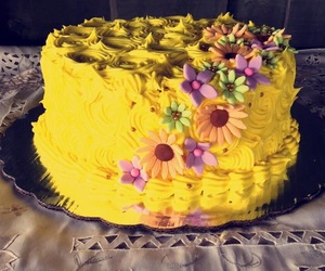 birthday, delicious, and flowers image