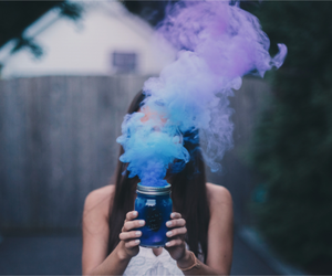 blue, colors, and smoke image