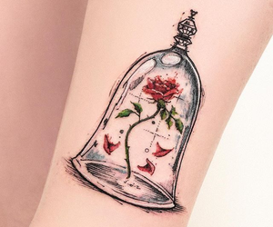tattoo, disney, and rose image