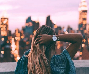 girl, hair, and new york image