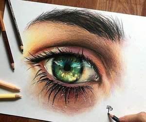 drawing and eye image