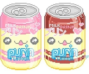 kawaii and pixel image