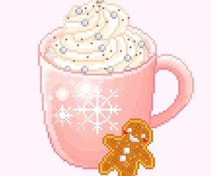 christmas and pixel art image