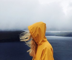 girl, yellow, and photography image