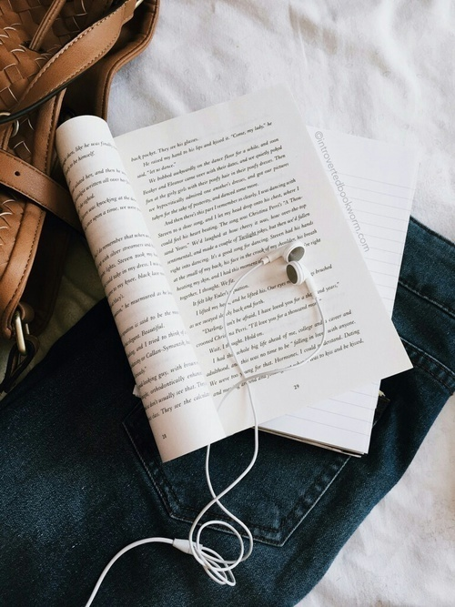 book, music, and aesthetic image