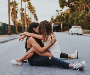 bisexual, love, and girls image