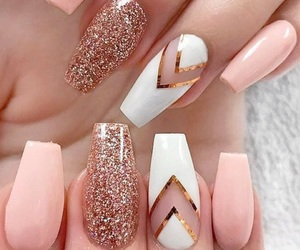 aesthetic, gold, and nails image