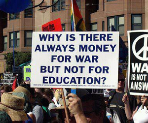 war, education, and quotes image