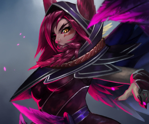 lol, xayah, and league of legends image