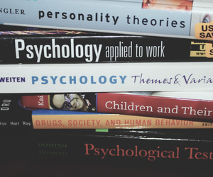 college, psychology, and study image