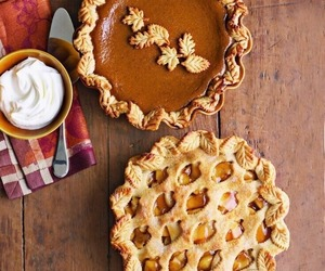 autumn, pie, and food image