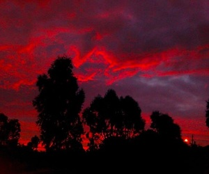 red, sky, and photography image