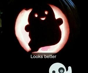 pumpkin, ghost, and Halloween image