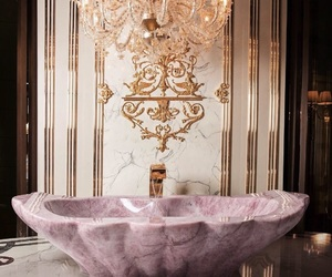pink, luxury, and bath image