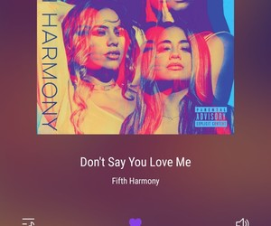 fifth harmony, song, and don't say you love me image