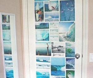 door, room, and blue image