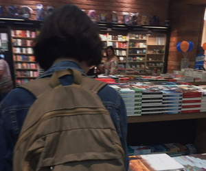 aesthetic, alternative, and book store image