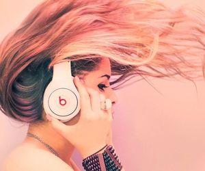music, beats, and hair image