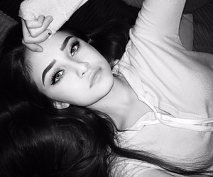 b&w, black and white, and cute image