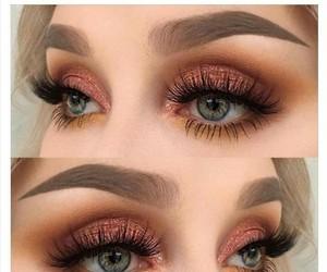 makeup, eyebrows, and make-up image