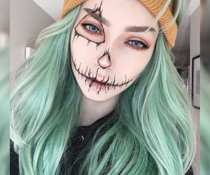 makeup, Halloween, and girl image
