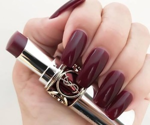 nails, lipstick, and beauty image