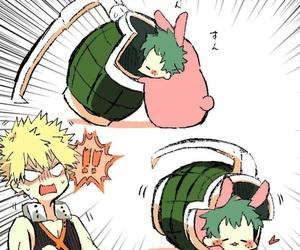boku no hero academia, deku, and bakugo image