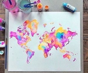 colors, travel, and word image