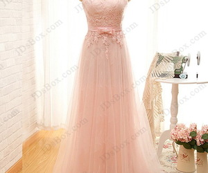 evening dress, bridesmaid dress, and pink prom dresses image
