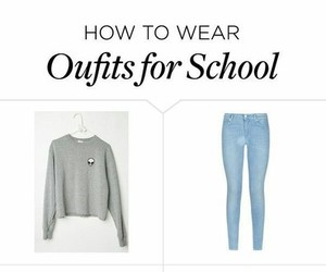 school and outfit image