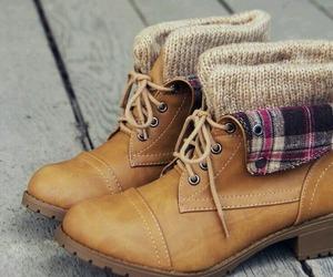 autumn, fashion, and boots image